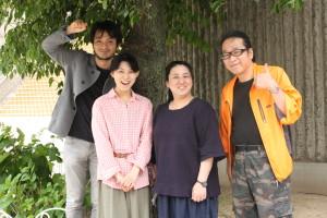 左から:眞山直則、吉江麻樹、亀井妙子、風太郎